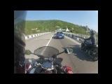 Водитель авто подрезал мотоциклиста и скрылся с места ДТП